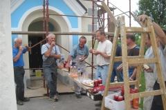 Obnova fasade na cerkvi sv. Petra v Dobu