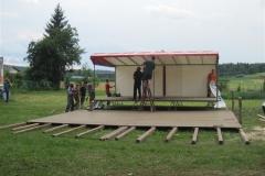 Priprave na gasilsko veselico 2011